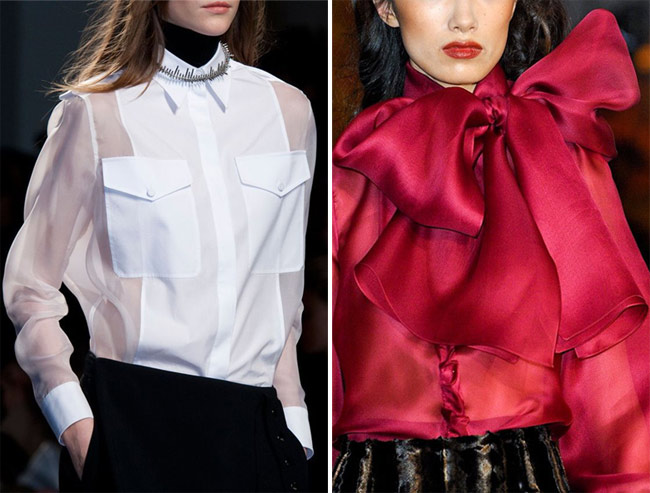 Блузка в сочетании с юбкой или брюками - прекрасный вариант для празднования Нового года