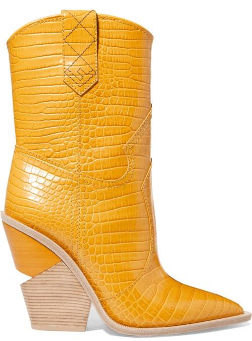Желтые сапоги Fendi