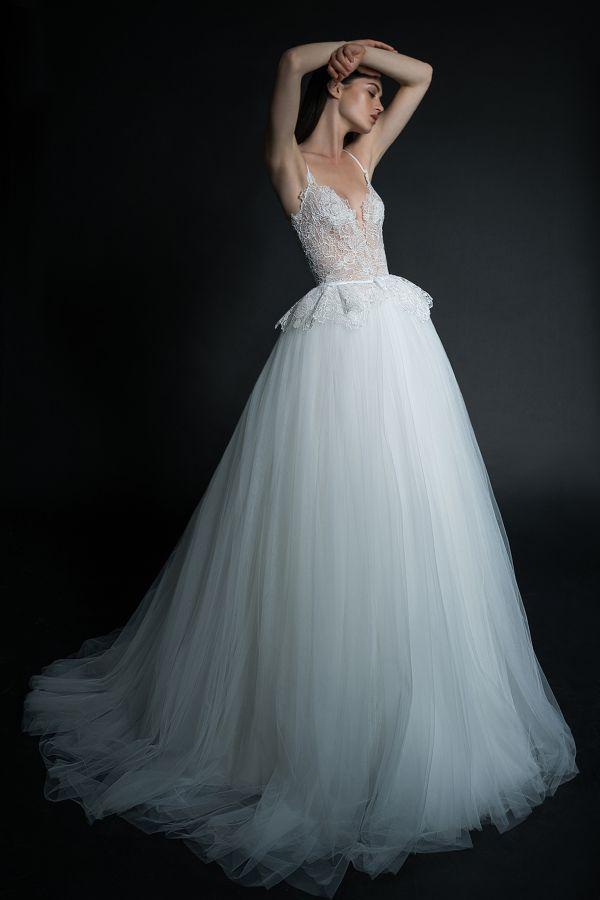 Фатиновое свадебное платье. Коллекция Spring 2019 Inbal Dror