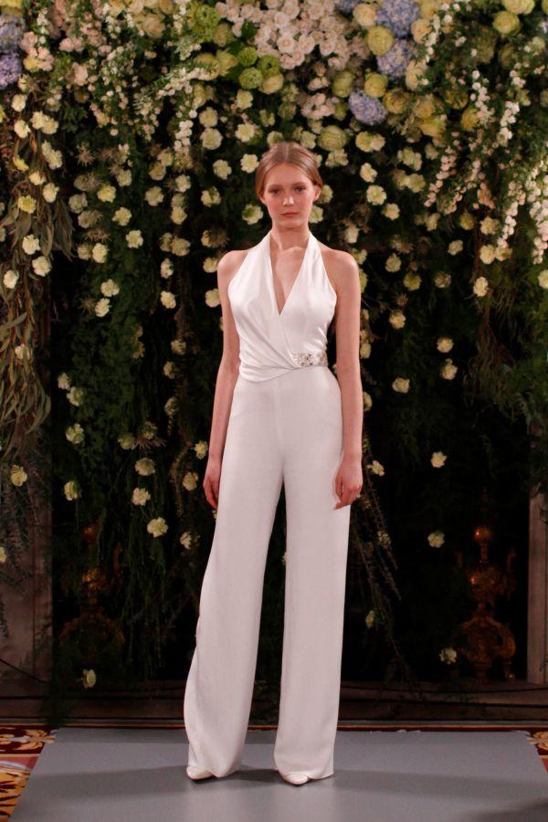 Свадебный брючный костюм для невесты Jenny Packham весна-лето 2019