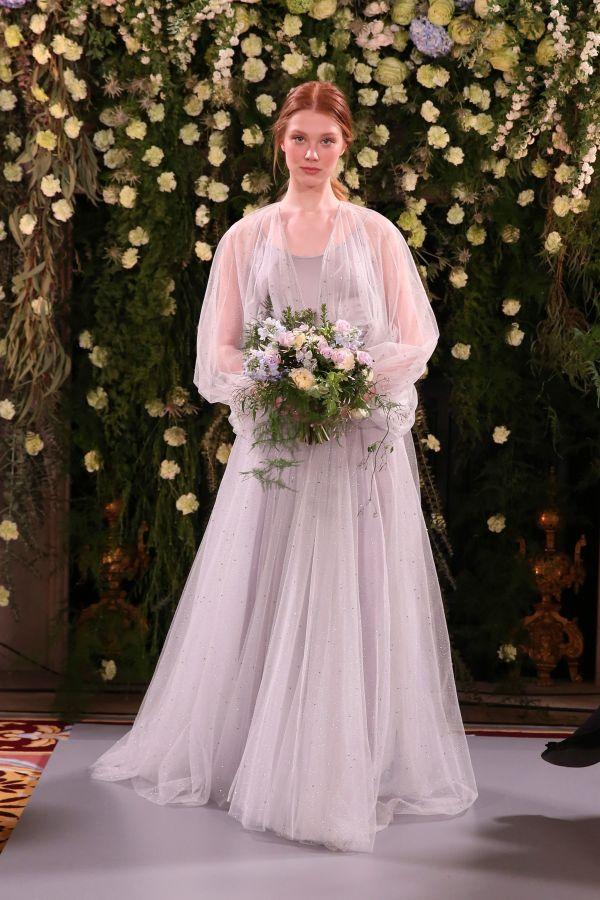 Нежно-лиловое свадебное платье. Коллекция Spring 2019 Jenny Packham