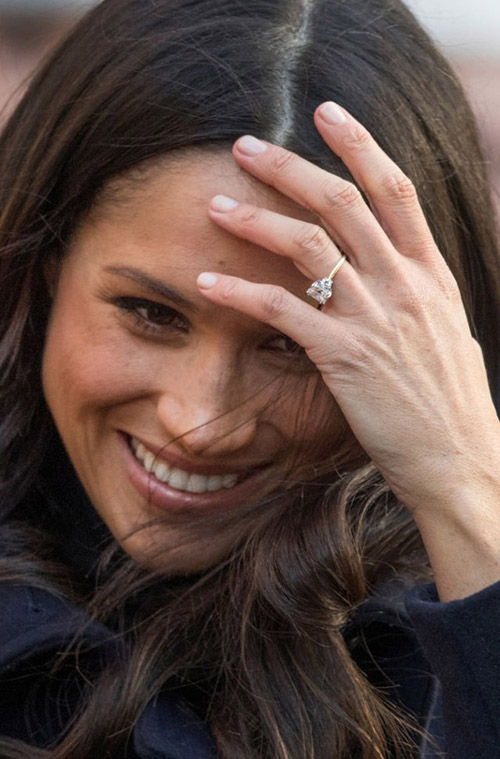 Помолвочное кольцо с бриллиантами Меган Маркл