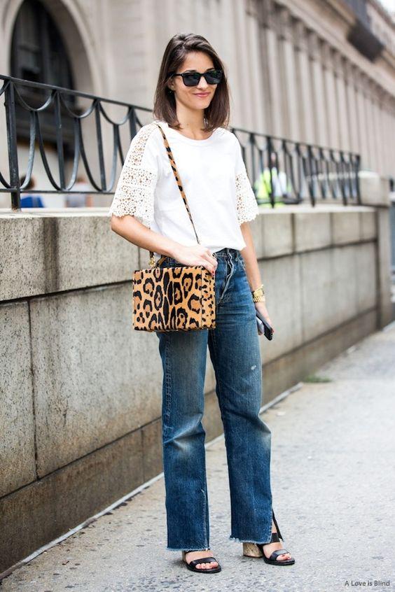 Леопардовая сумка с чем носить: в сочетании с денимом