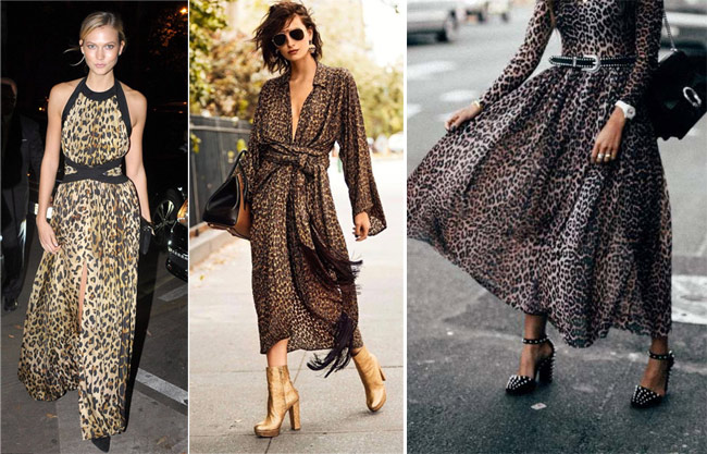 Платье с леопардовым принтом для новогодней вечеринки