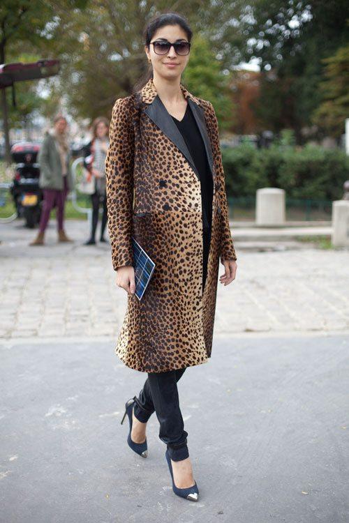 Элегантный образ с леопардовым пальто