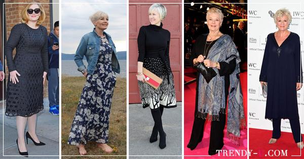 15e57a496f5 Модные женщины после 50-60 лет  как выбрать платье