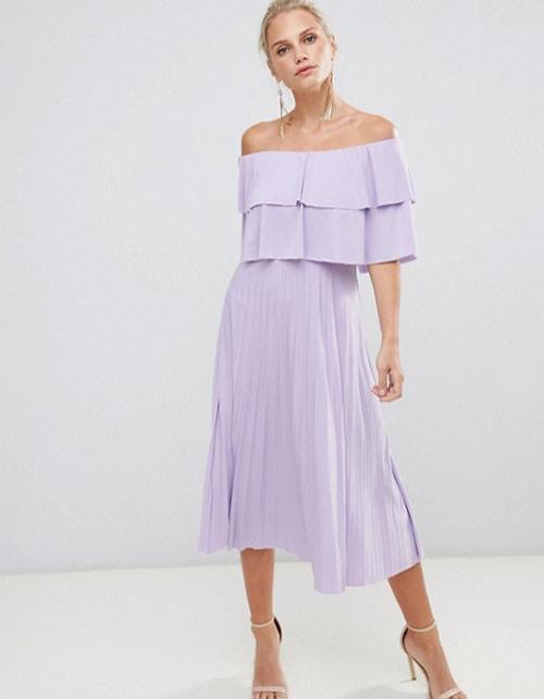 Платье лавандового цвета на Новый год 2019