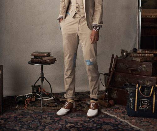 Коричнево-белые туфли