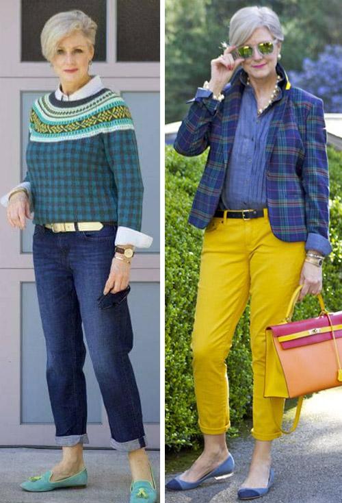 f9deab65bfb24b Модные женщины после 50-60 лет: как выбрать платье, юбку или брюки ...