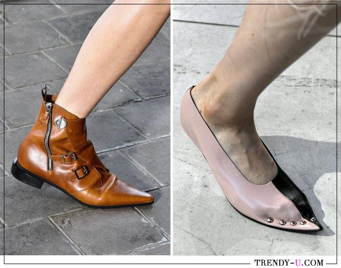 Ботинки и туфли с острым носком Louis Vuitton и Marni для весны 2019