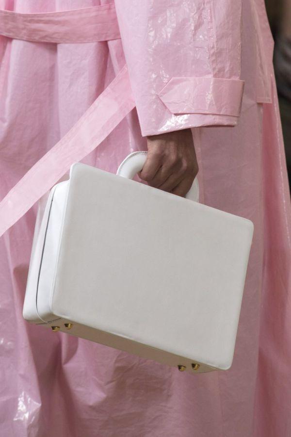 Белая сумка-коробка из весенне-летней коллекции 2019 Emilia Wickstead