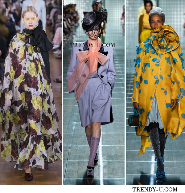 Банты - главный декоративный элемент весной и летом 2019. Коллекции Erdem Marc Jacobs SS 2019