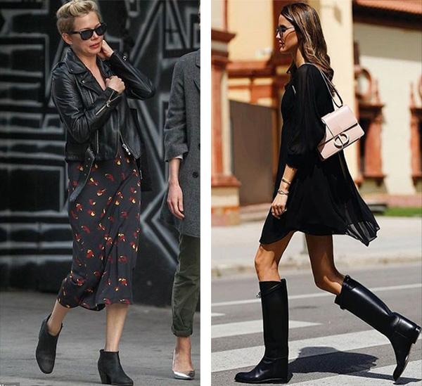 Черновое шифоновое платье и аксессуары