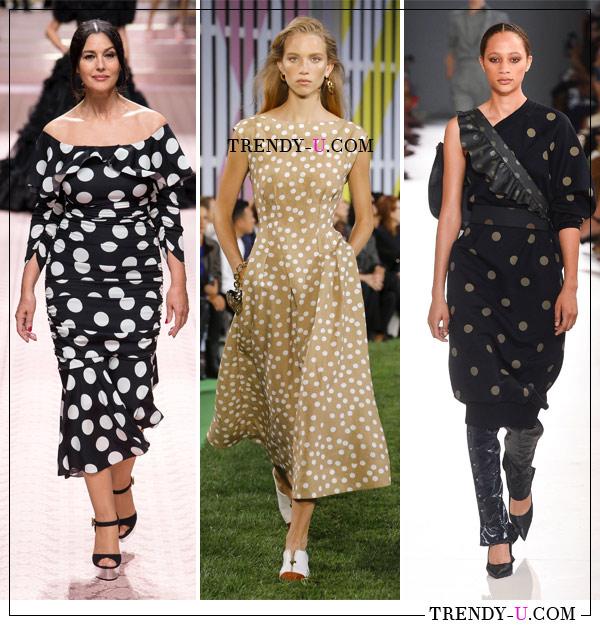 """Принт """"горох"""" - один из самый популярных принтов весны и лета 2019. Образы от Dolce & Gabbana, Gucci и Maxmara"""