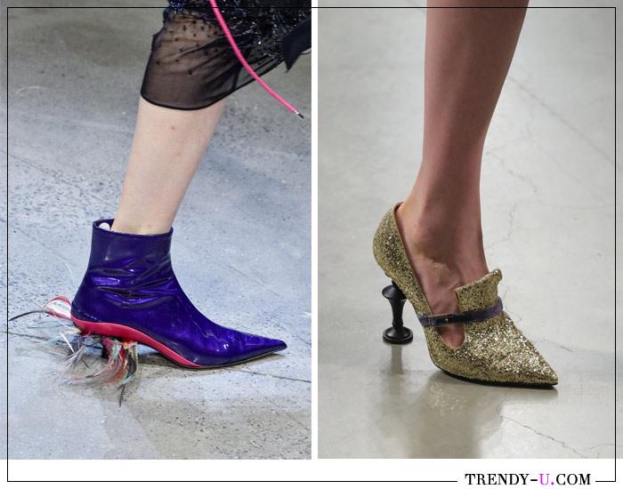 Модные ботильоны и туфли с острым носком из коллекций Prabal Gurung и Mary Katranzou весна-лето 2019