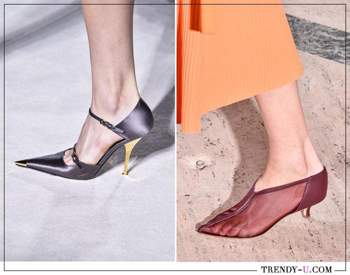 Нарядные туфли с острым носком от Tom Ford и Tibi SS 2019