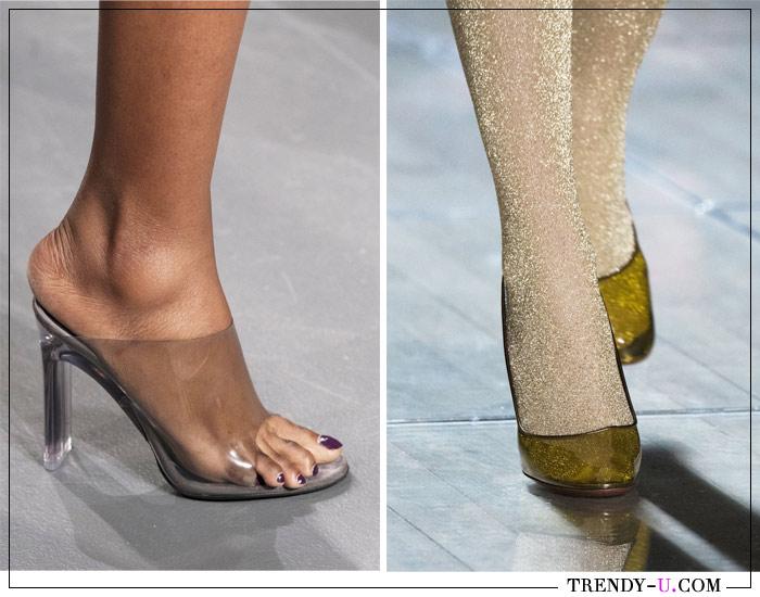 Мулы и туфли-лодочки из прозрачного пластика от LaQuan Smith и Marc Jacobs SS 2019