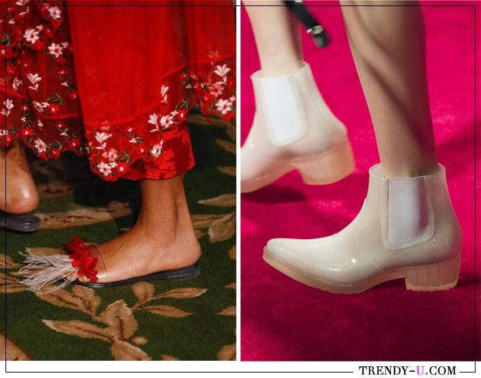 Пластиковые шлепанцы и ботинки из весенне-летних коллекций Valentino и Calvin Klein 2019