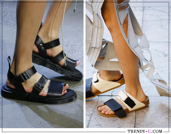 Модные сандалии и шлепанцы от Prabal Gurung и Rick Owens для лета 2019