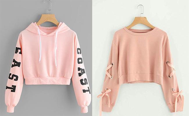 Розовое худи и свитшот