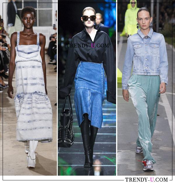 Платье, юбка и куртка из джинса от Proenza Schouler, Balenciaga и Off-White для весны и лета
