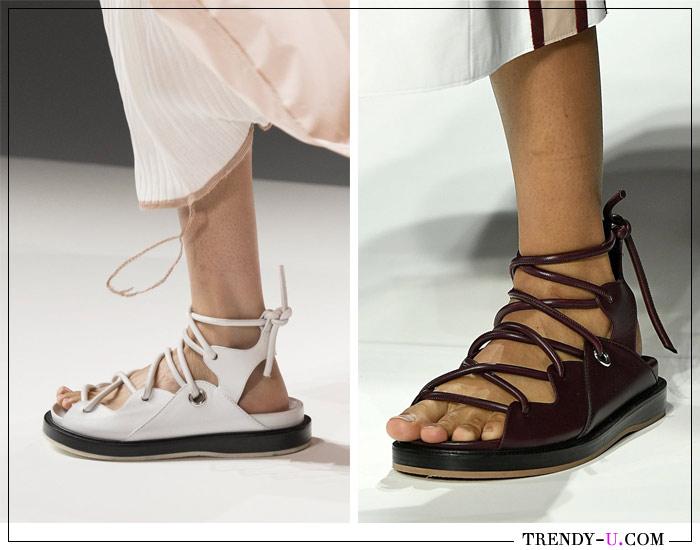 Босоножки со шнурками из веревки от Boss SS 2019