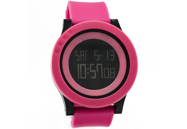 Часы на каучуковом браслете