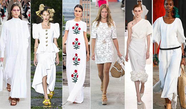 Летние белые платья 2019