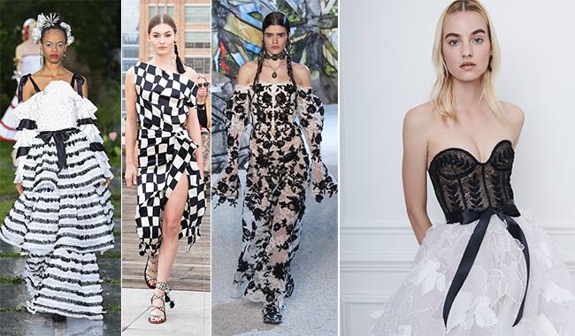 Черное-белое платье 2019