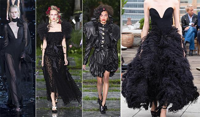 Оригинальные черные платья