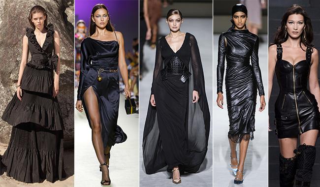 Модные платья черного цвета