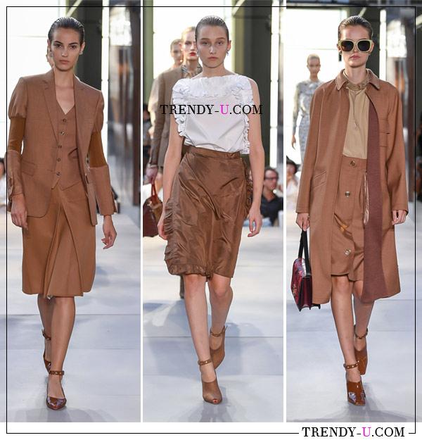 Модные женские деловые костюмы и юбка с блузкой из коллекции Burberry SS 2019