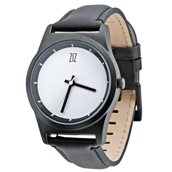 Часы из фарфора на кожаном ремешке