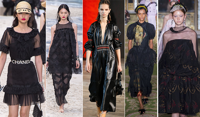 Черное платье для лета