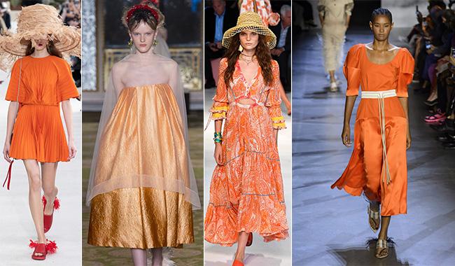 Как носить оранжевое платье 2019