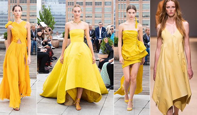 Желтые платья для весны и лета