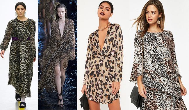 Тигровый принт на платье