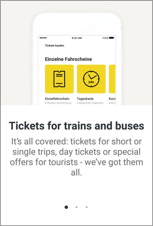 Интерфейс приложения BVG Berlin Tickets