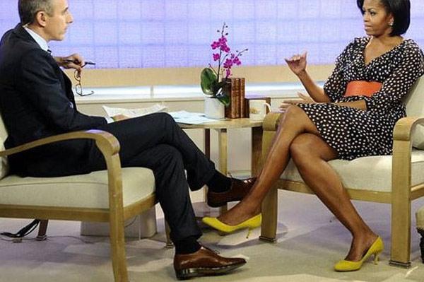 Мишель Обама в платье H&M на ток-шоу