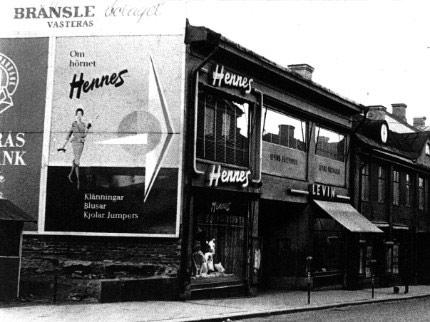 Первый магазин бренда H&M, тогда просто Hennes