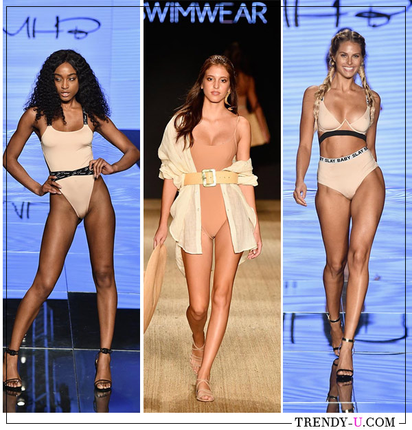 Купальники модного цвета беж от Monica Hansenи Monday Swimwear для лета 2019