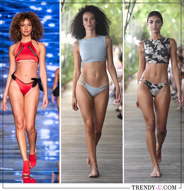 Модные раздельные купальники хай-нек от Baes and Bikinis и Stone Fox Swims для лета 2019