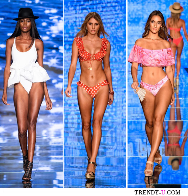 Рюши и оборки на купальниках Baes and Bikinis и Luli Fama SS 2019