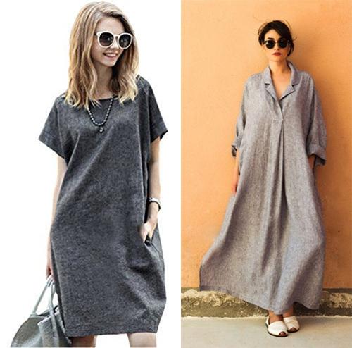 Как носить серое платье летом