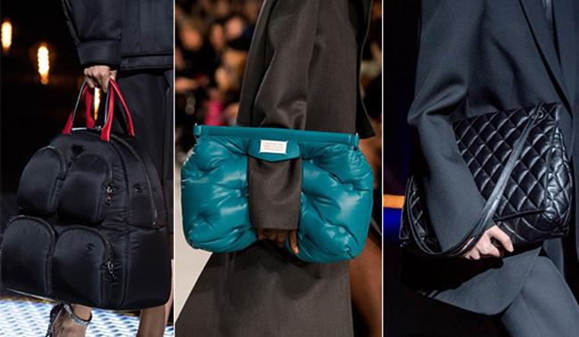Дутые сумки: идеально в дождь и слякоть