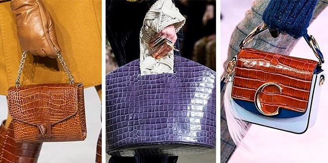 Крокодиловая сумка: яркие кожаные модели
