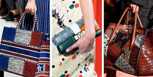 Разноцветные яркие сумки 2019: словно из лоскутков кожи