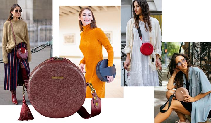 Круглые сумки модные 2019