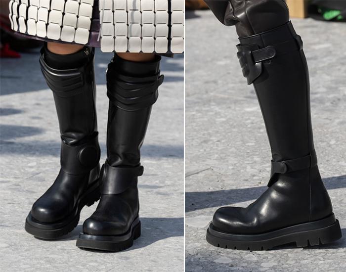 Грубые ботинки черного цвета