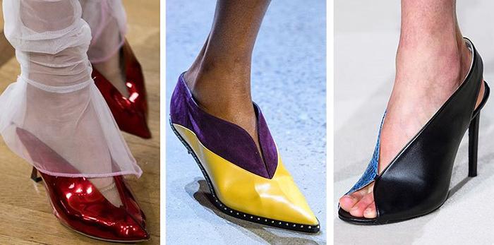 Модные туфли с вырезом